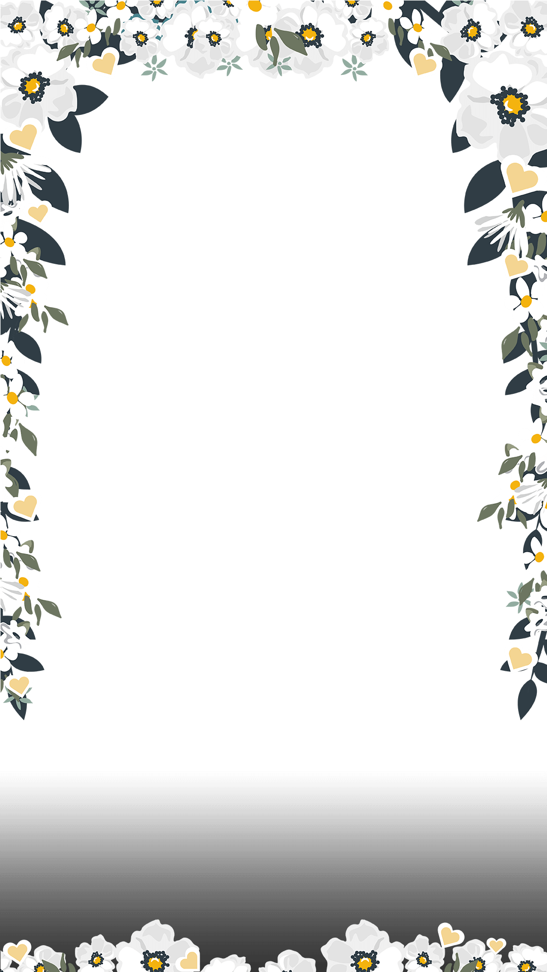 Elegant White Floral Wedding Snapchat Filter