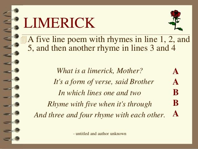 poetry limerick examples - Google Search Writing\/Grammar\/Word - what is an analysis
