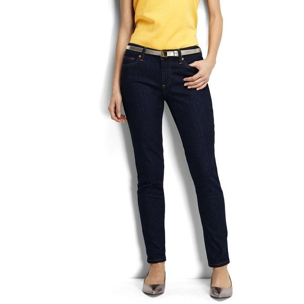 4bb2d6c9cb696 Lands  End Women s Tall Not-Too-Low Rise Slim Jeans ( 30) ❤ liked on  Polyvore featuring jeans