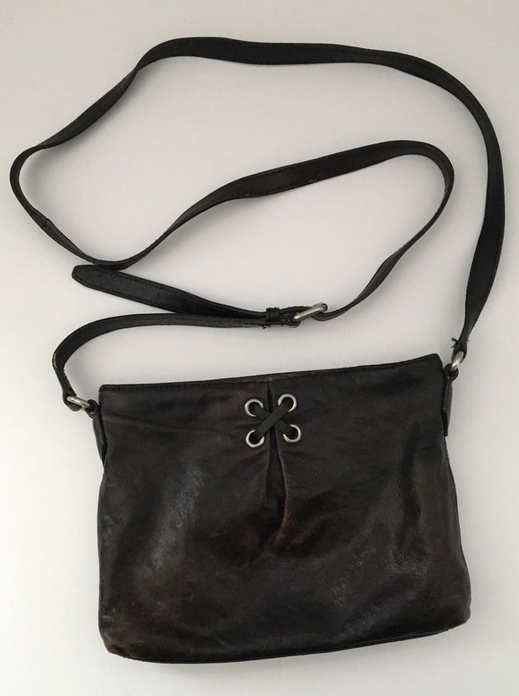 46e747373b9 Pre-Owned Cole Haan Small Leather Cross-body Purse Bag Dark Brown B36483  Genuine #ColeHaan #CrossbodyShoulderBag