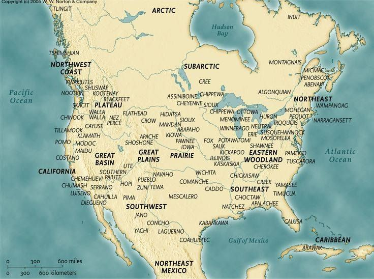 Indigenous Map Of North America.Indigenous Tribes Of North America 1491 Tribe Map American Indians