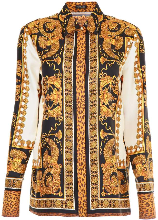 ecbe39b70cb69b Versace Barocco Print Silk Shirt | Products | Shirts, Versace, Fashion