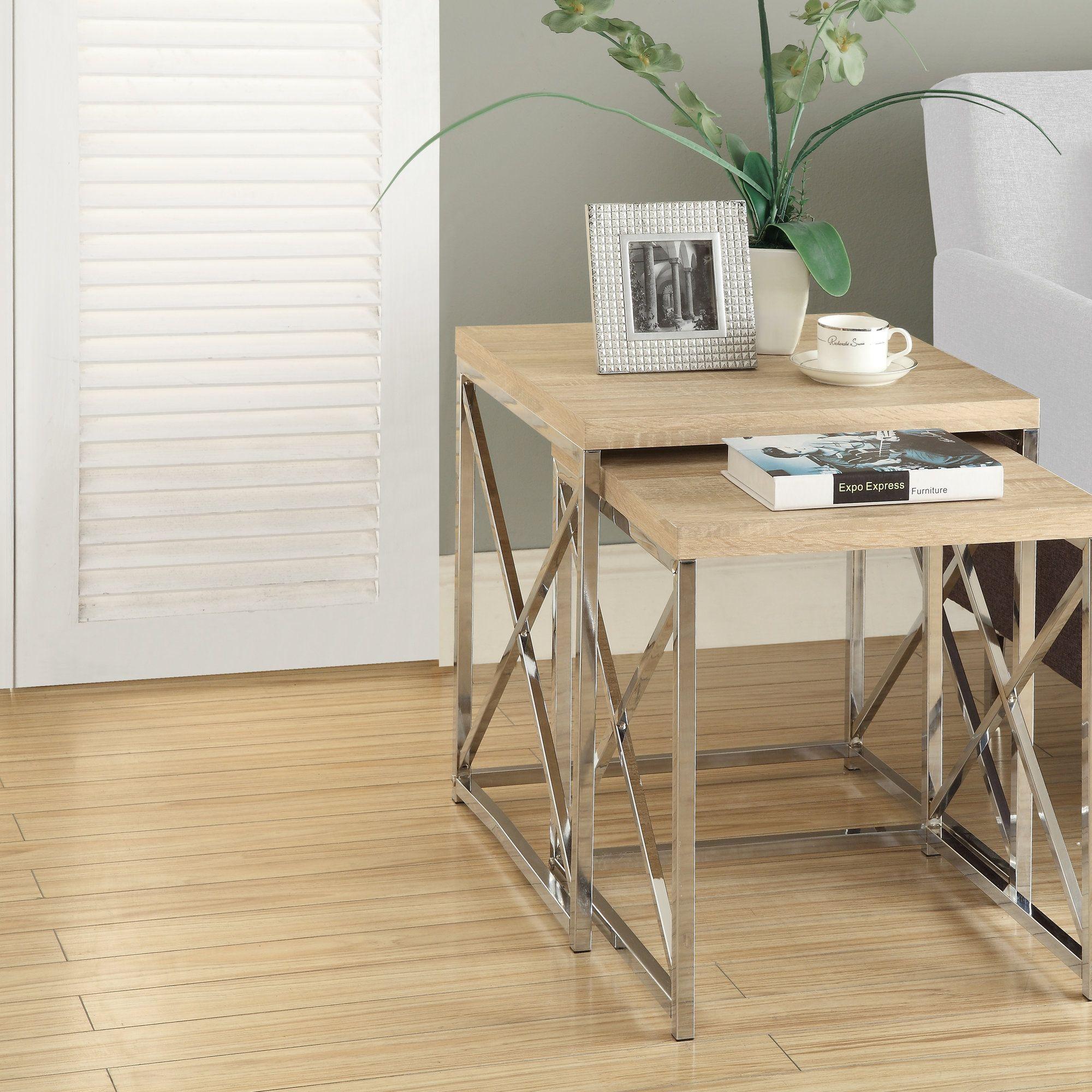 baez 2 piece nesting table set products pinterest products
