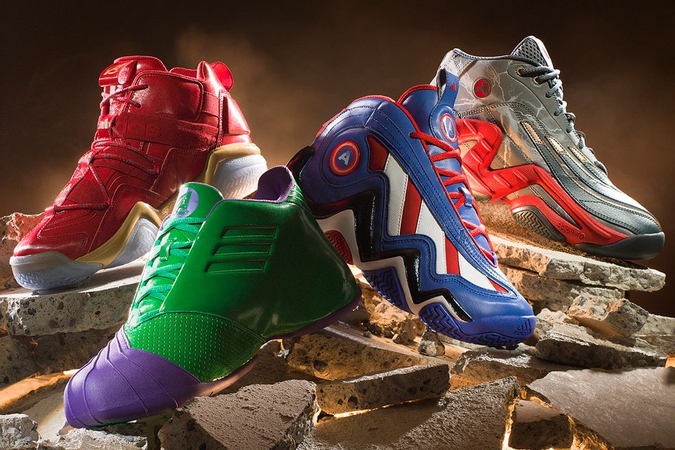adidas x Marvel's Avengers Basketball Shoe Collection | Footwear ...