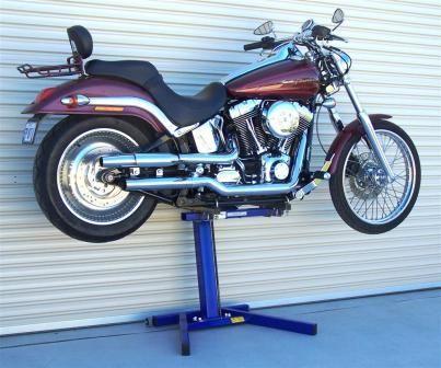 Eazy Rizer Big Blue Lift Motorbike Stand Big Blue Harley Davidson