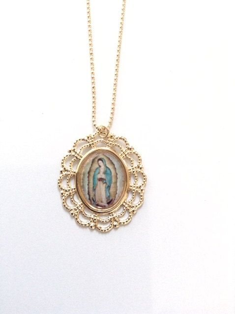 Virgen de guadalupe medal our lady of guadalupe gold pendant gold virgen de guadalupe medal our lady of guadalupe gold pendant gold virgin mary pendant our lady mozeypictures Choice Image