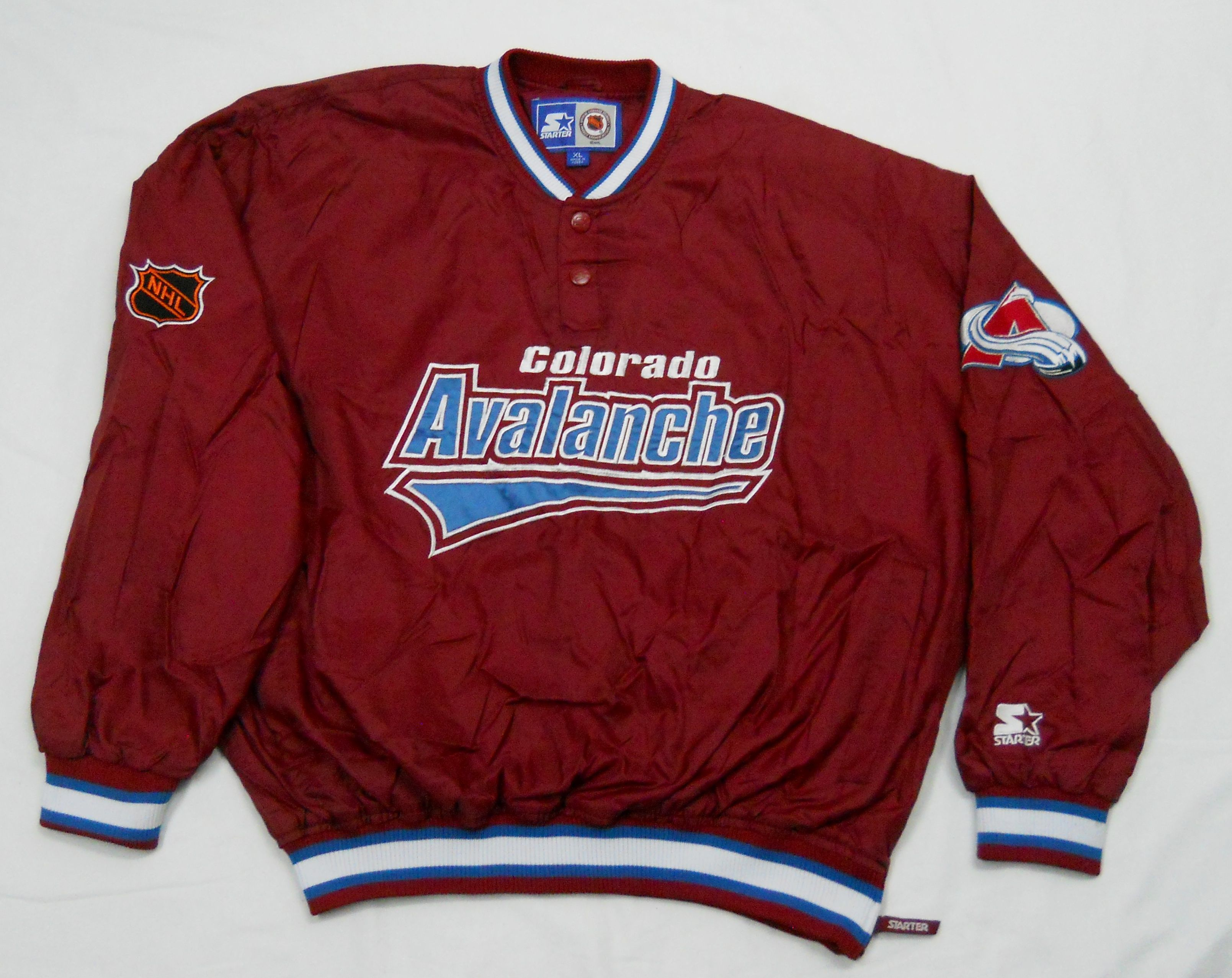 quality design 97066 3491c Vintage mid-90s Colorado Avalanche pullover jacket by ...