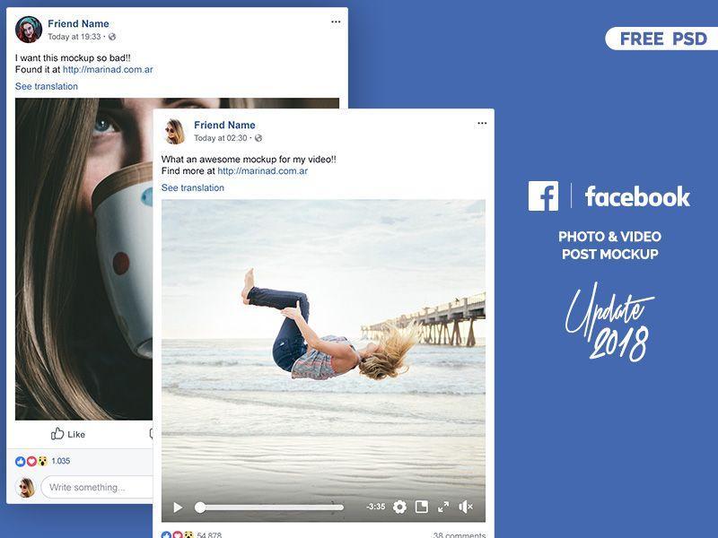 Facebook 2018 Post Mockup Free Psd Facebook Mockup Mockup Free Psd Facebook Post Template