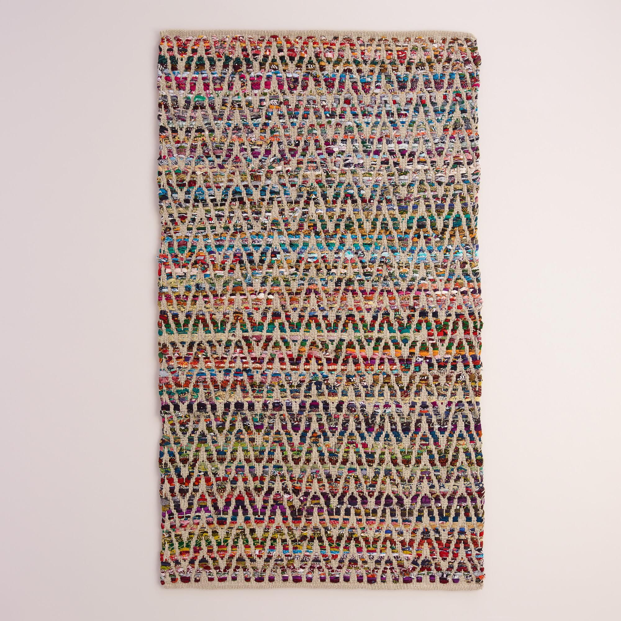 8x10 250 Perfect For The Tv Room Chevron Recycled