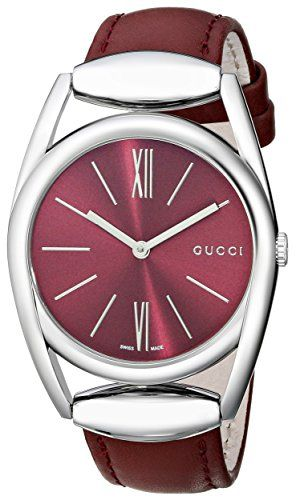 9c3f02759da9 Gucci Women s YA139402 Gucci Horsebit Collection Analog Display Swiss  Quartz Silver Watch