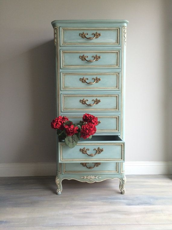Reloved Vintage French Provincial Lingerie Chest | French provincial ...
