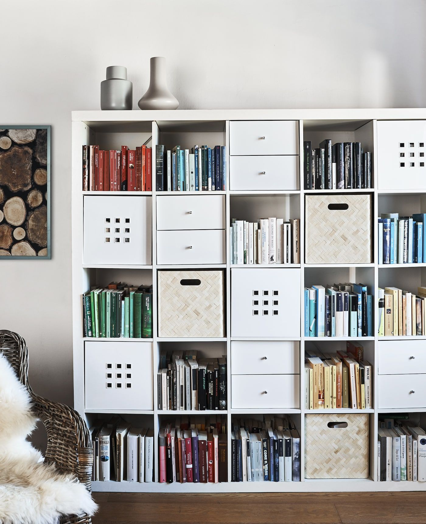 Kallax 3 Gestaltungsideen Von Elisa Raumteiler Ikea Kallax Regal Dekorative Raumteiler