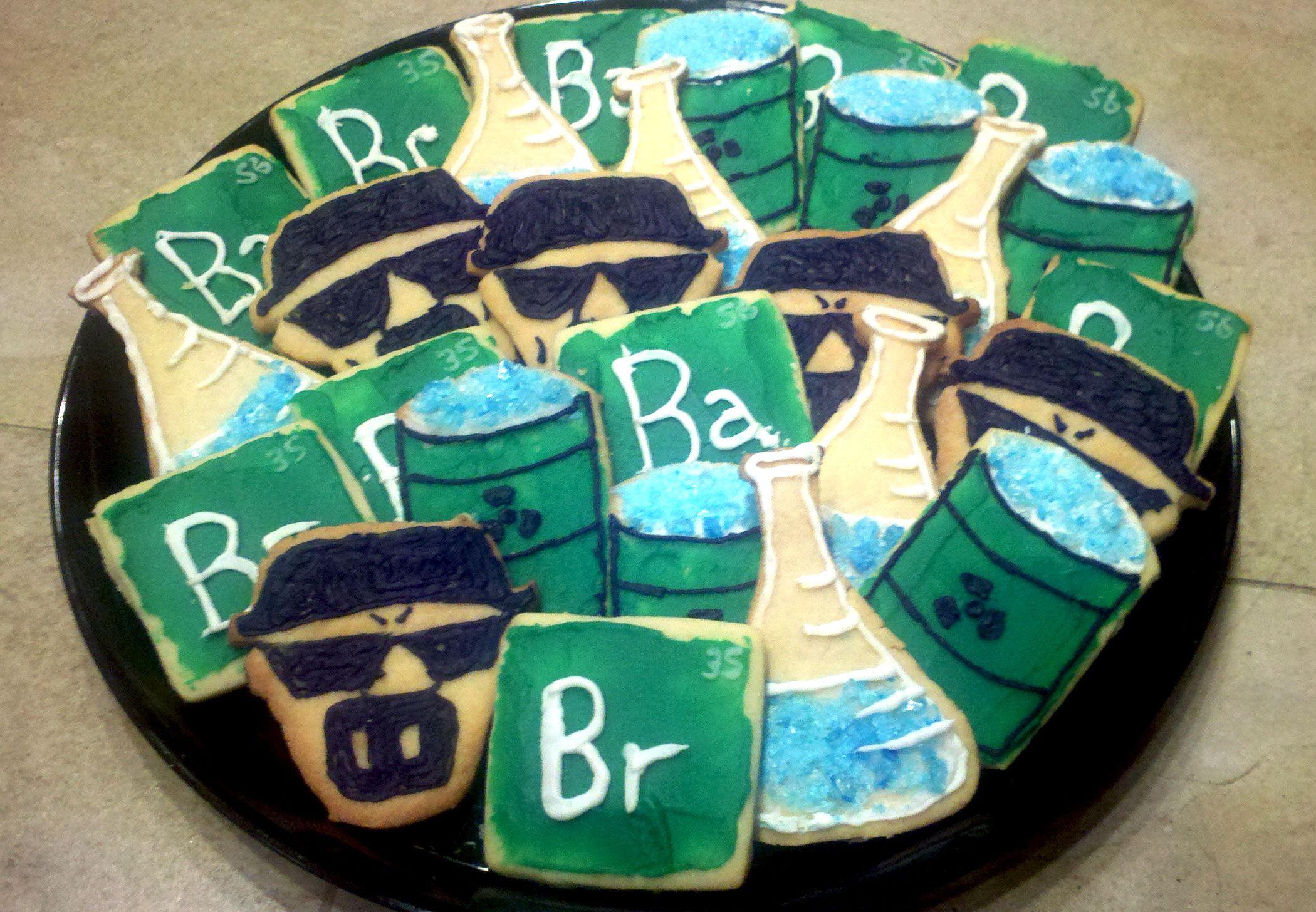 Homemade Breaking Bad cookies for the Breaking Bad Series Finale
