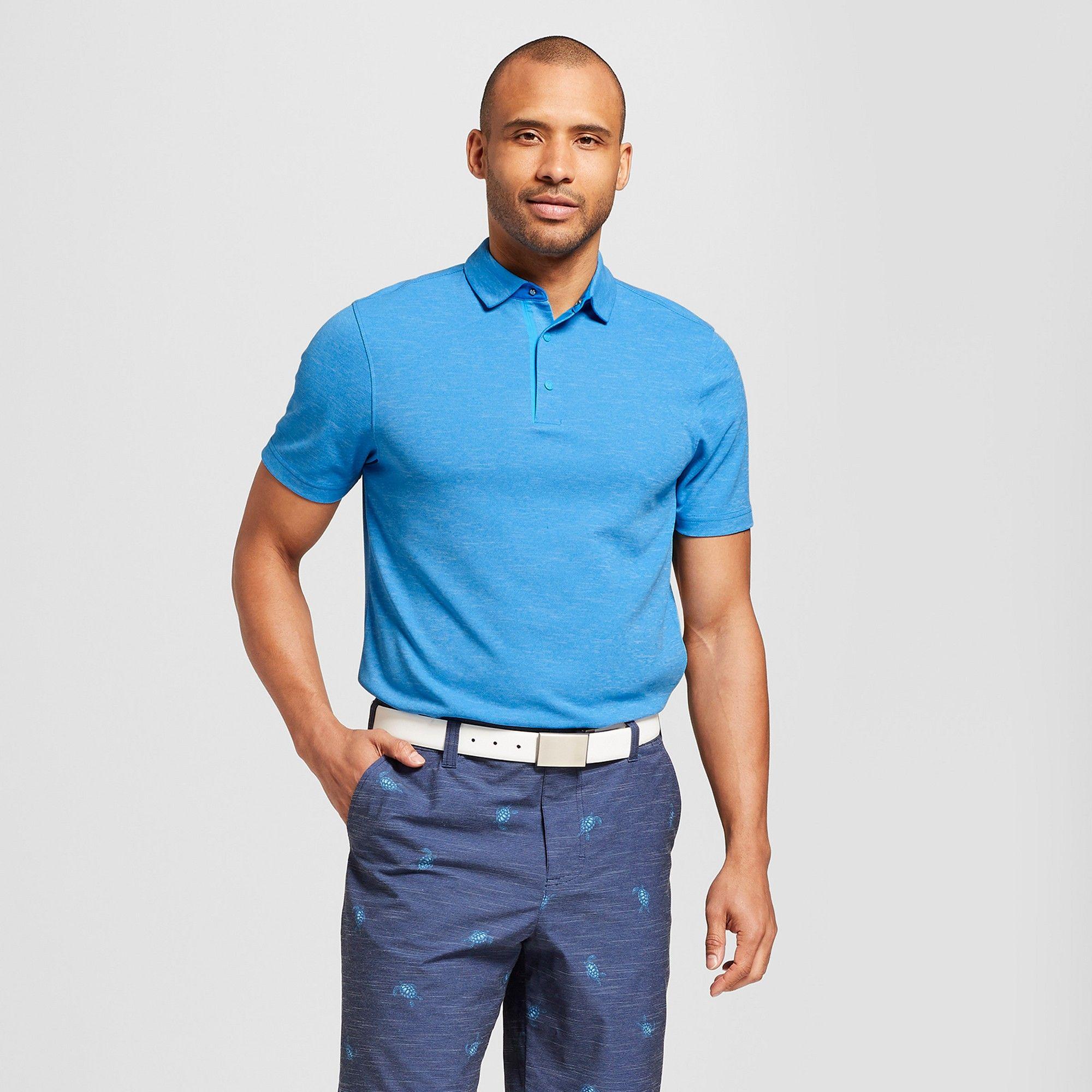 cf999d9d2 Men s Pique Golf Polo Shirt - C9 Champion Hotline Blue Heather Xxl ...