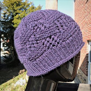 The stitch pattern for this hat look complicated, but is ...