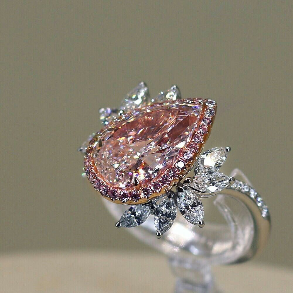 Truly Breathtaking Pink Diamond Ring Carefullydesigned Finejewelry Jewelertothestars Pink Diamond Ring Pink Diamond Engagement Ring Fancy Pink Diamond