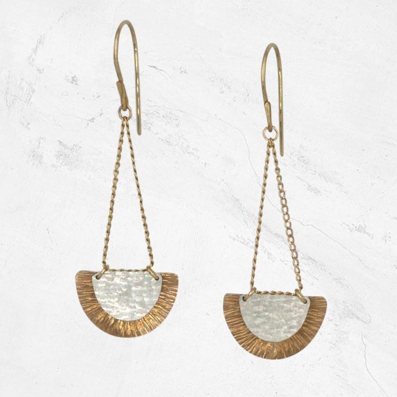ef2c3e1e3 PALO DURO Mixed Metal Earrings | Products | Earrings, Circle ...