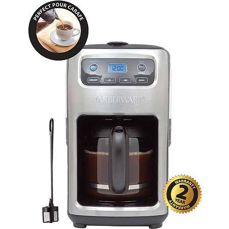 Farberware 12 Cup Digital Programmable Coffee Maker Stainless Black Farberware Coffee Maker Coffee Maker Farberware