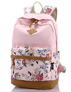 ea553860c Leaper Casual Style Lightweight Canvas Laptop Backpack Cute Travel School  College Shoulder Bag/Bookbags/Daypack for Teenage Girls/Students/Women-With  Laptop ...