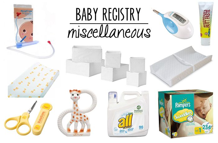 Baby Registry items for diapering, health and teething ...