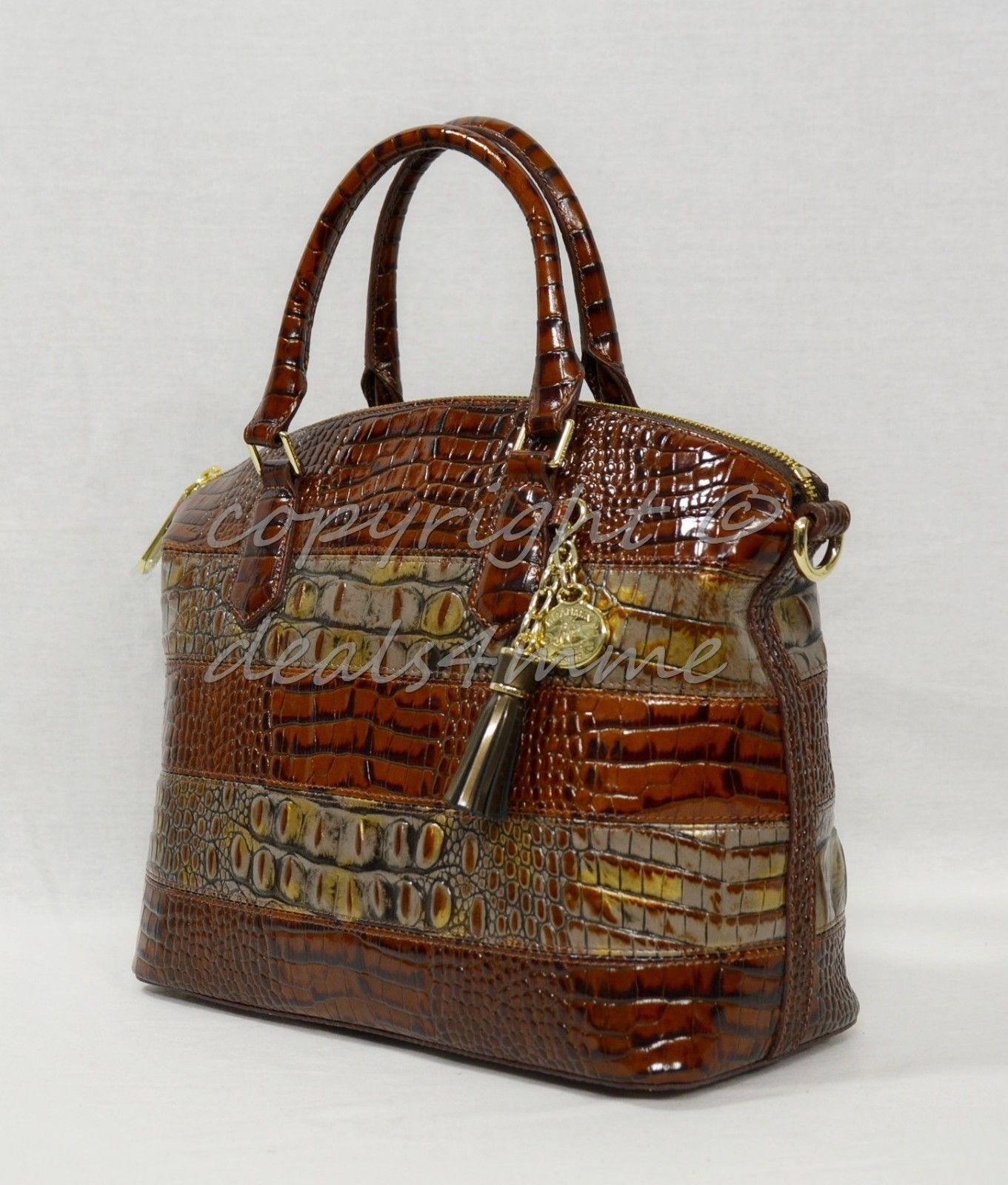 239.00$  Watch now - http://vilfk.justgood.pw/vig/item.php?t=bvz7p531288 - NWT! Brahmin Duxbury Satchel/Shoulder Bag in Fall Tortoise Durham 239.00$