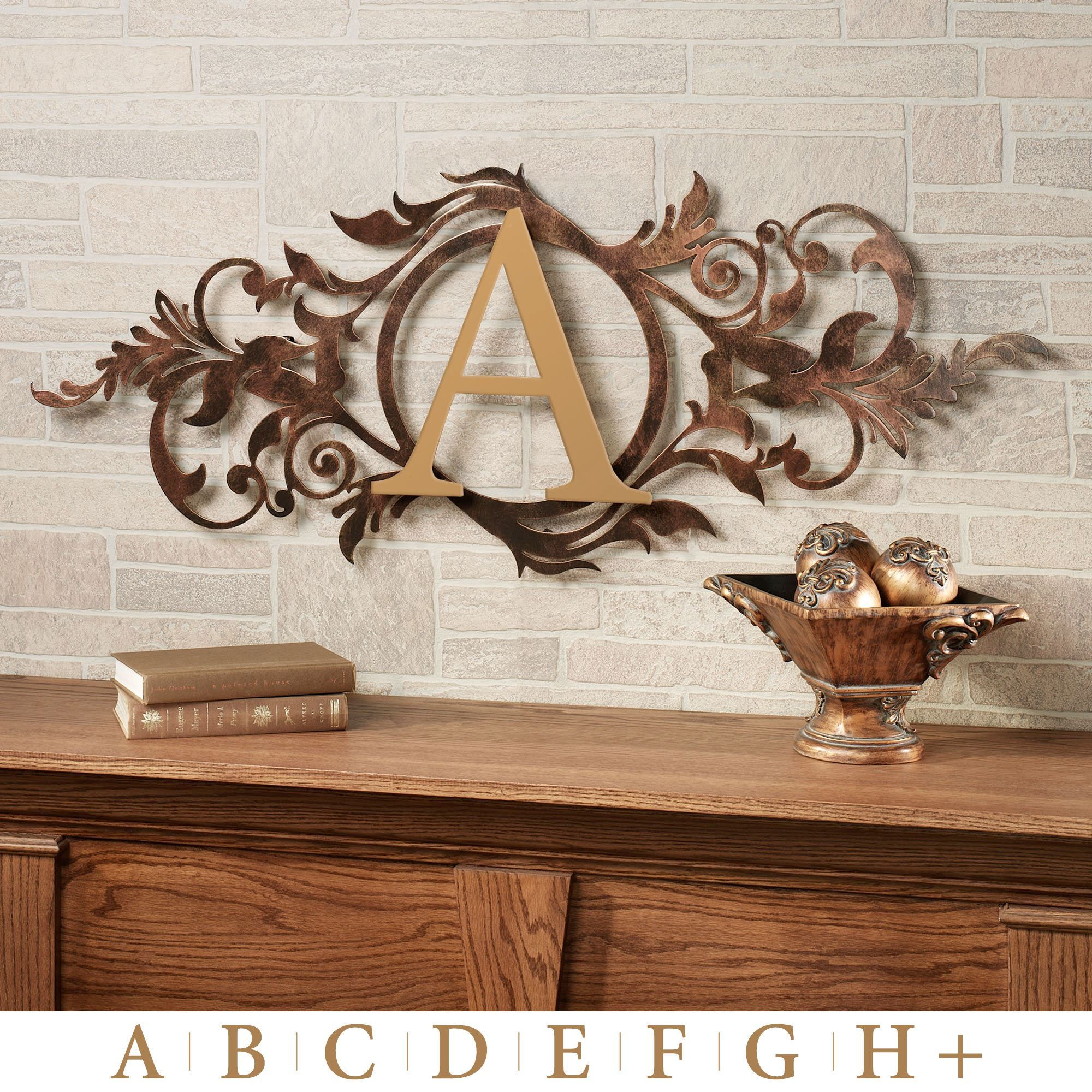 Meglynn Monogram Horizontal Metal Wall Art Sign