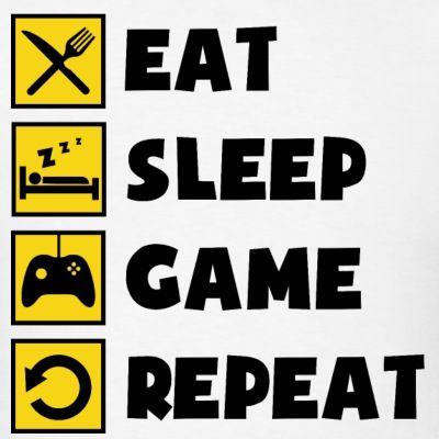 Eat Sleep Game Repeat | Men's T-Shirt