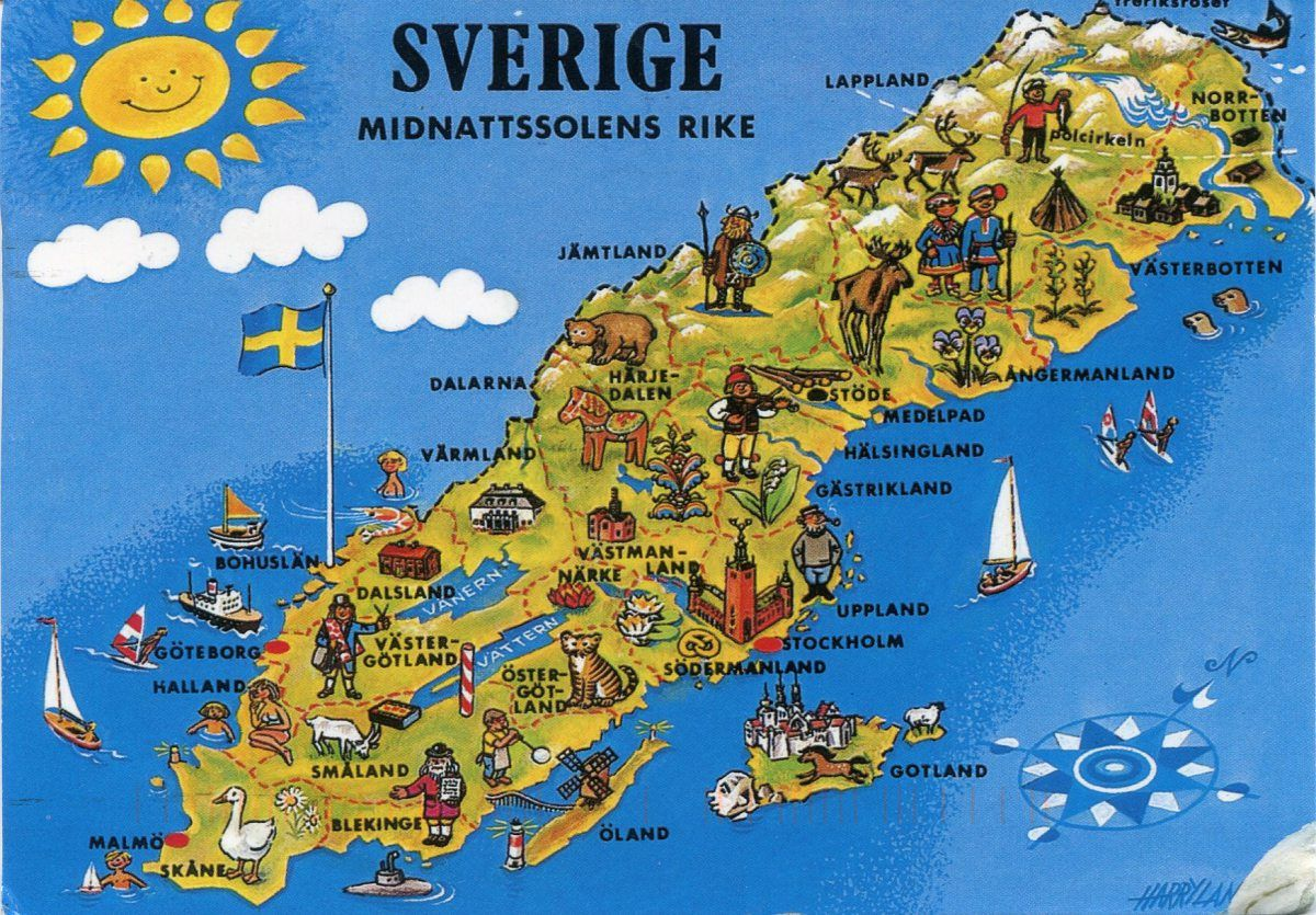 Map Of Sweden Sweden Map - Sweden map search