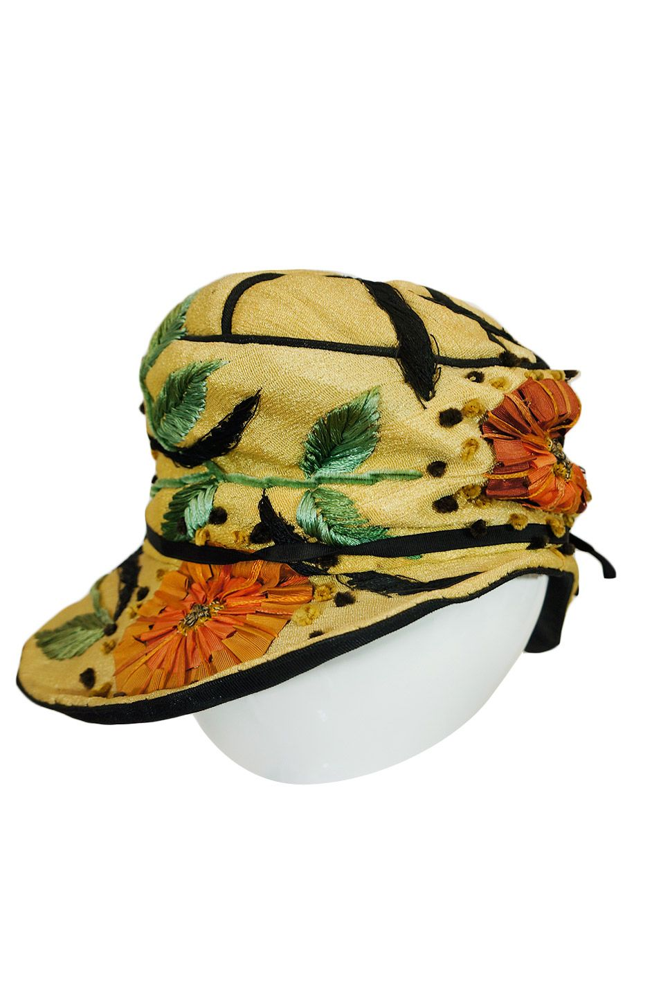 Edwardian embroidered hat