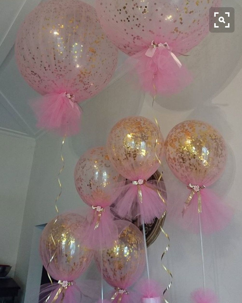 Glitter balloons baby shower pinterest glitter balloons birthdays and babies - Pink baby shower table decorations ...