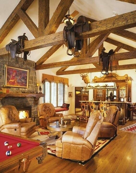 Western Style Living Room Western Rooms Western Living Rooms