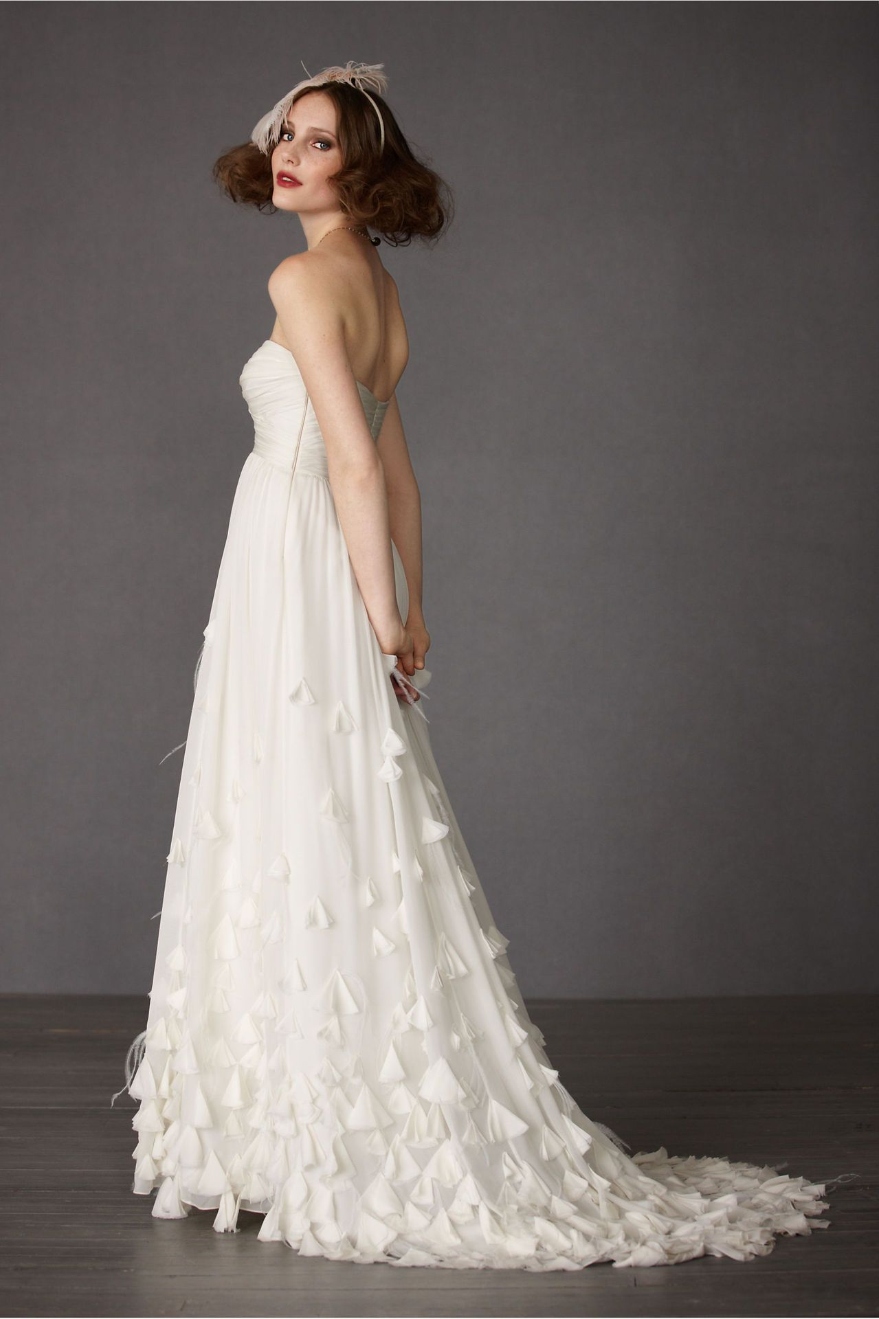 Cheap 2013 Strapless Sweetheart Wedding Dress With Slight Train And Rich Soft Flower On Skirt Sale Buy