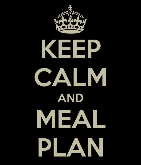 I meal plan breakfast, snacks and dinner through google calendar I