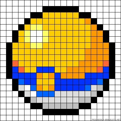 Pokeball Pokemon Perler Bead Pattern Macrame Pokemon