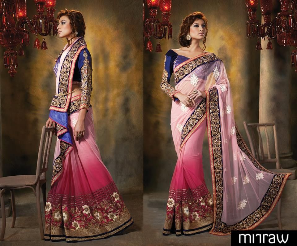 embroidery designer sarees trendz women's ethnic wear