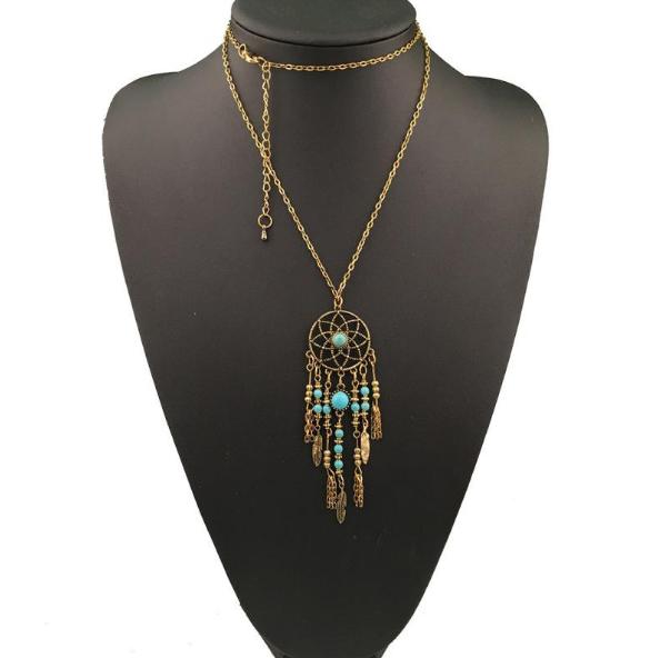 Dream Catcher/Feather Necklace