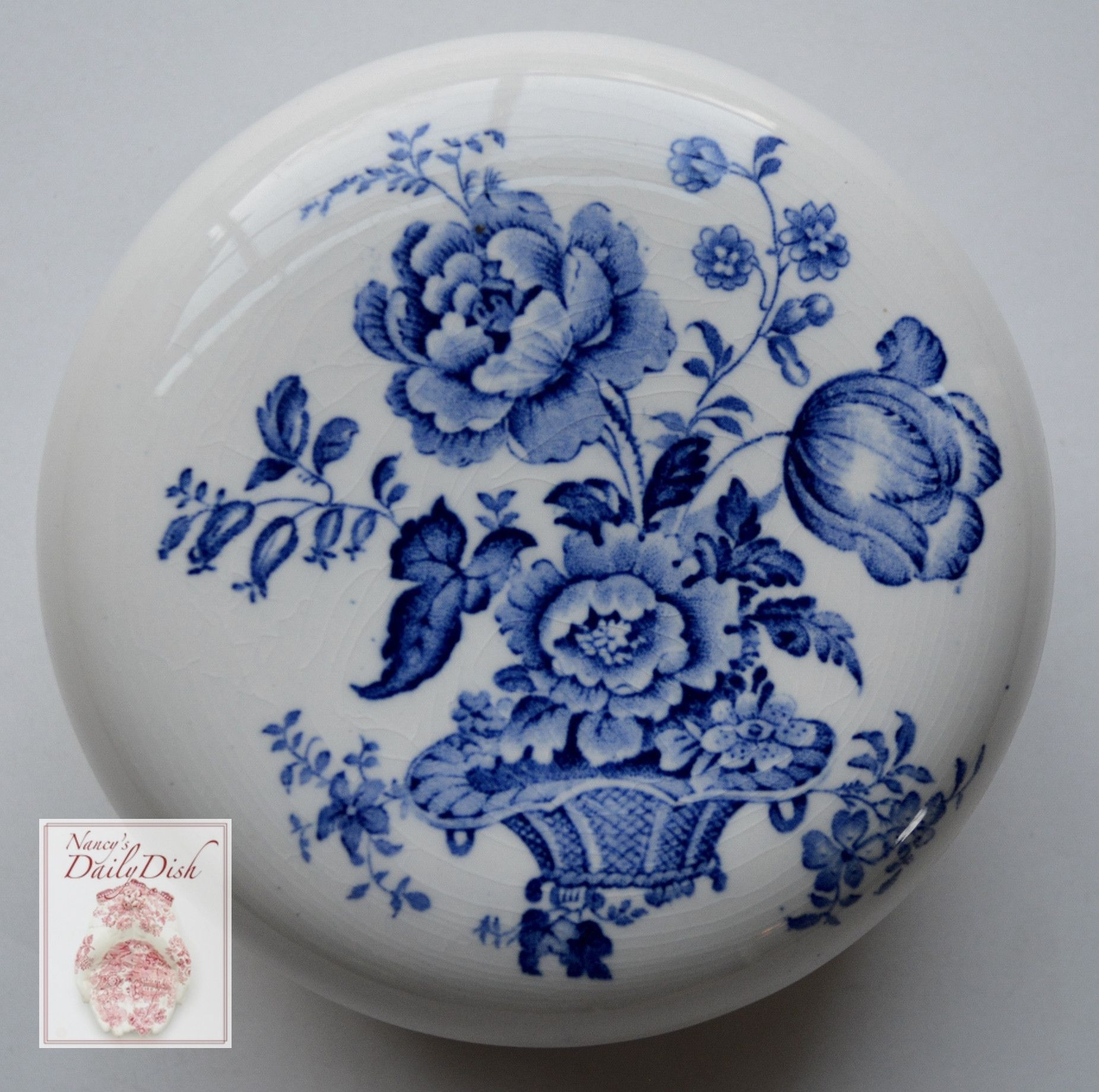 Charlotte Floral Blue Transferware Vintage English Transferware BATH ...