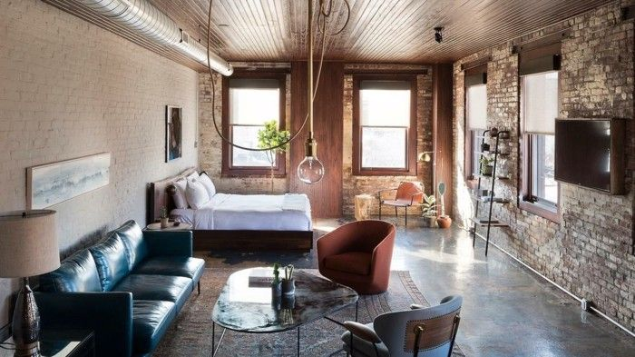 Wohnzimmer Lampe ~ Wohnzimmerlampe im industriellen stil offener wohnplan