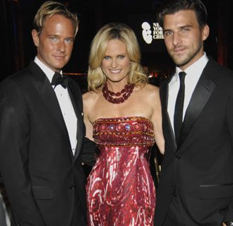 Daniel Benedict, Ashley McDermott, and Johannes Huebl attend the New Yorkers for Children Spring Gala 2010