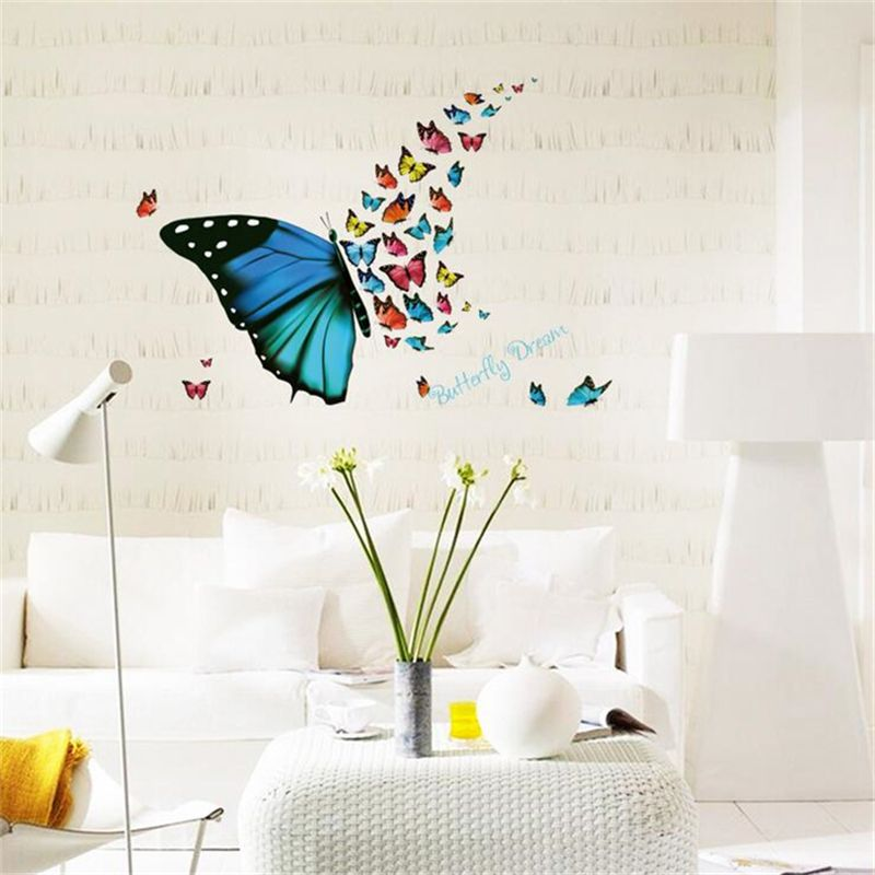 1pcs Colorful Butterfly Fly Wall Sticker Living Room Home