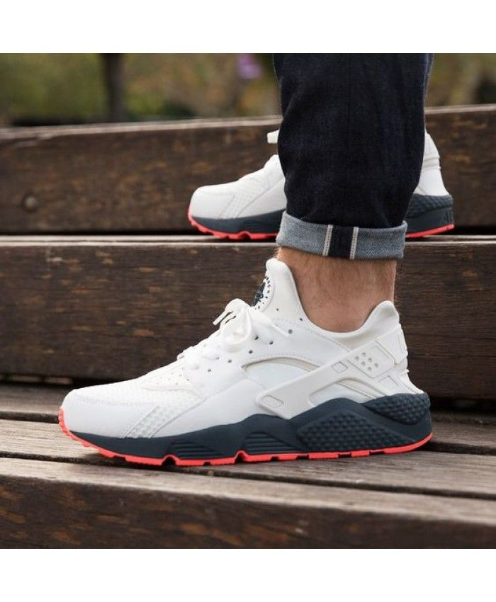 Cheap Nike Air Huarache White Black Red Trainer