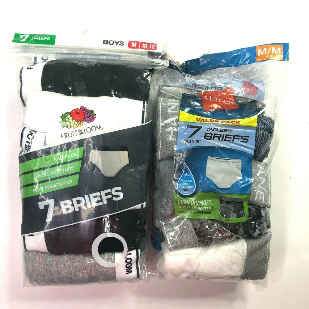 6-8 Hanes 14 Pack Tagless Boys Boxer Briefs Comfortsoft Sz S