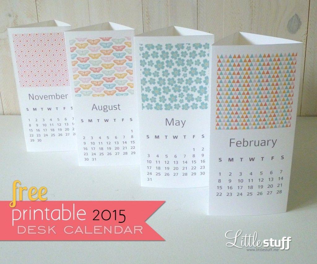 Handmade Calendar Design : Handmade free spring printable desk calendar