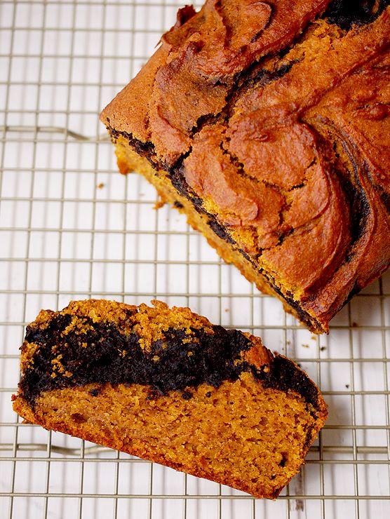 Pumpkin Chocolate Marbled Bread | Mandy's Recipe Box