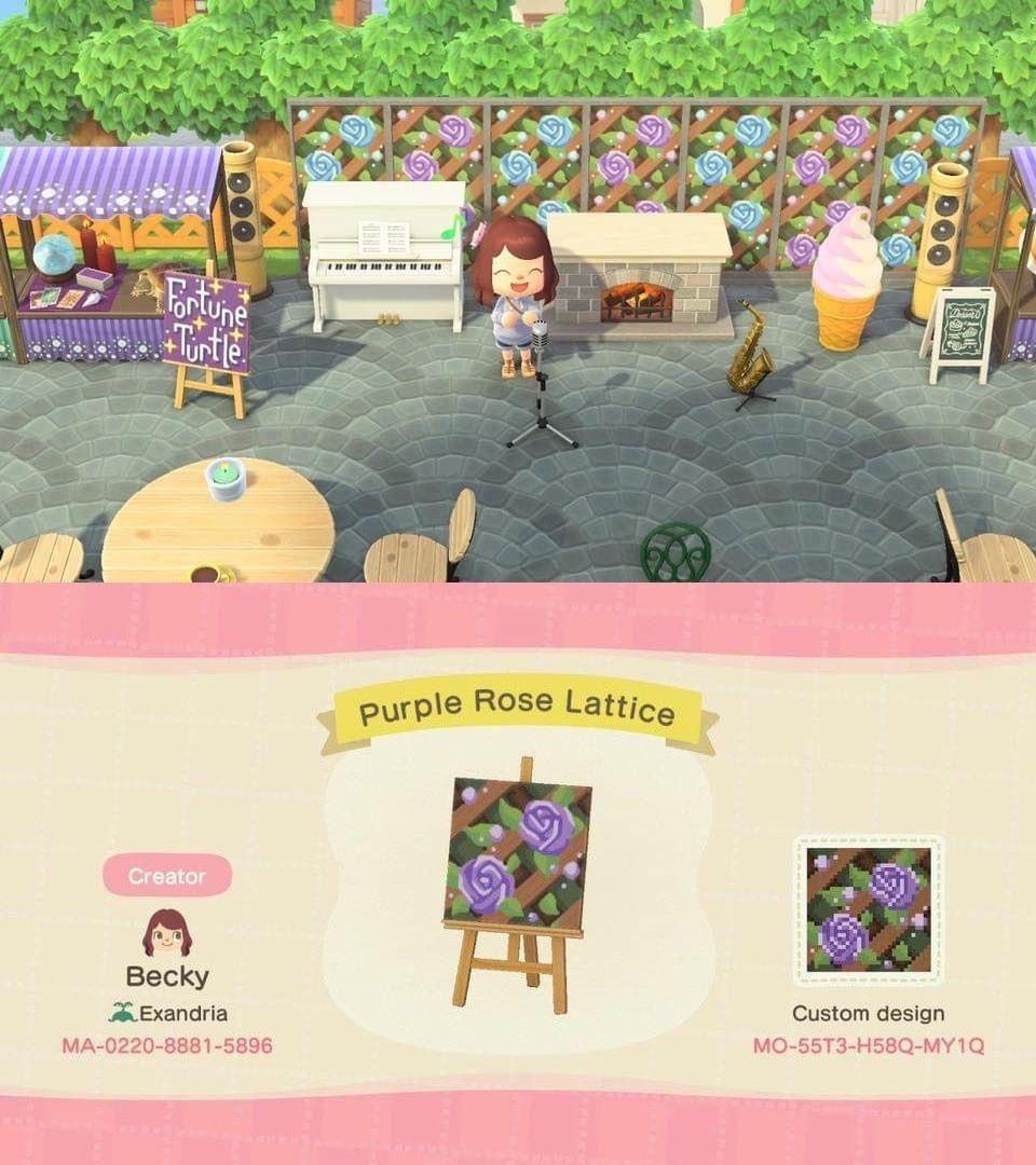 Assorted Rose Lattices For Simple Panel Designed Acnh Custom Designs New Animal Crossing Animal Crossing Memes Animal Crossing 3ds