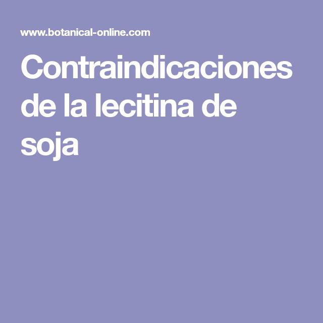 Efectos secundarios de la lecitina de soya para adelgazar