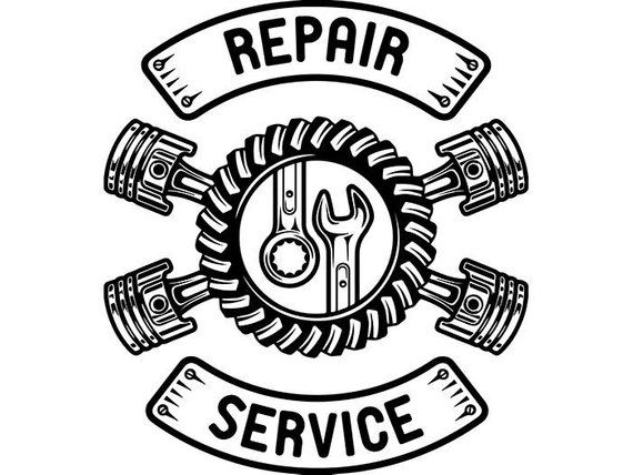 Mechanic Logo 43 Pistons Wrench Engine Auto Car Part Biker