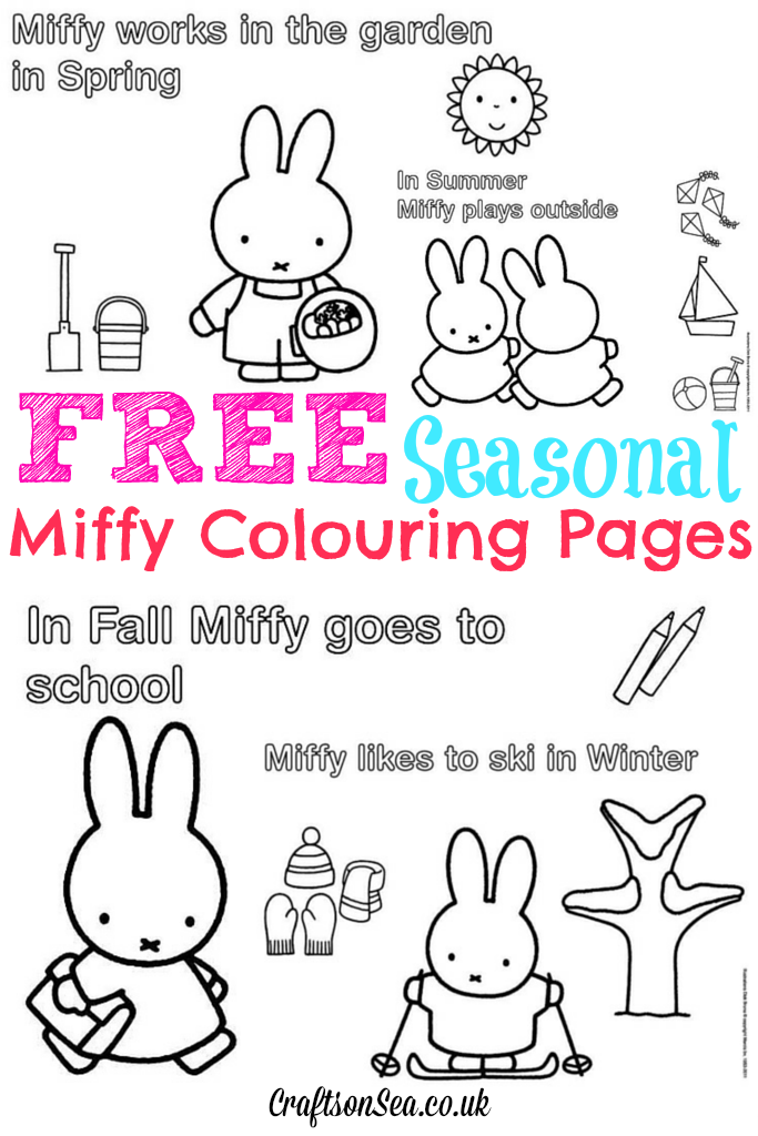 Free Miffy Colouring Pages and Miffy\'s Birthday | Kleine menschen ...