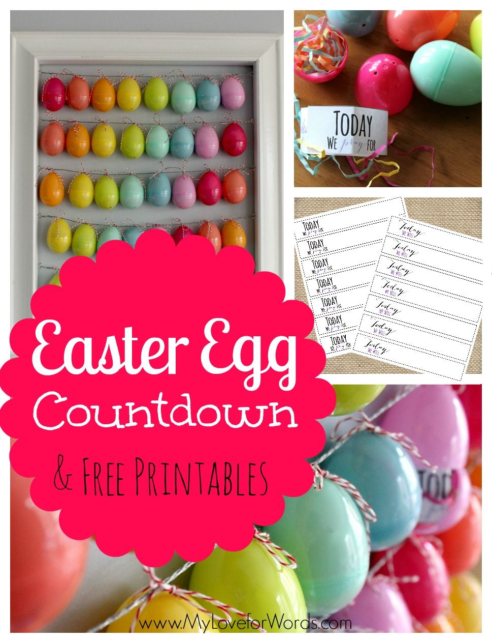 Easter Egg Countdown Free Printables With Images Plastic Easter Egg Crafts Diy Projects Easter Easter Diy