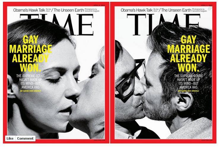 Capas da revista Time sobre o casamento gay - Fotos de Sebastião Salgado